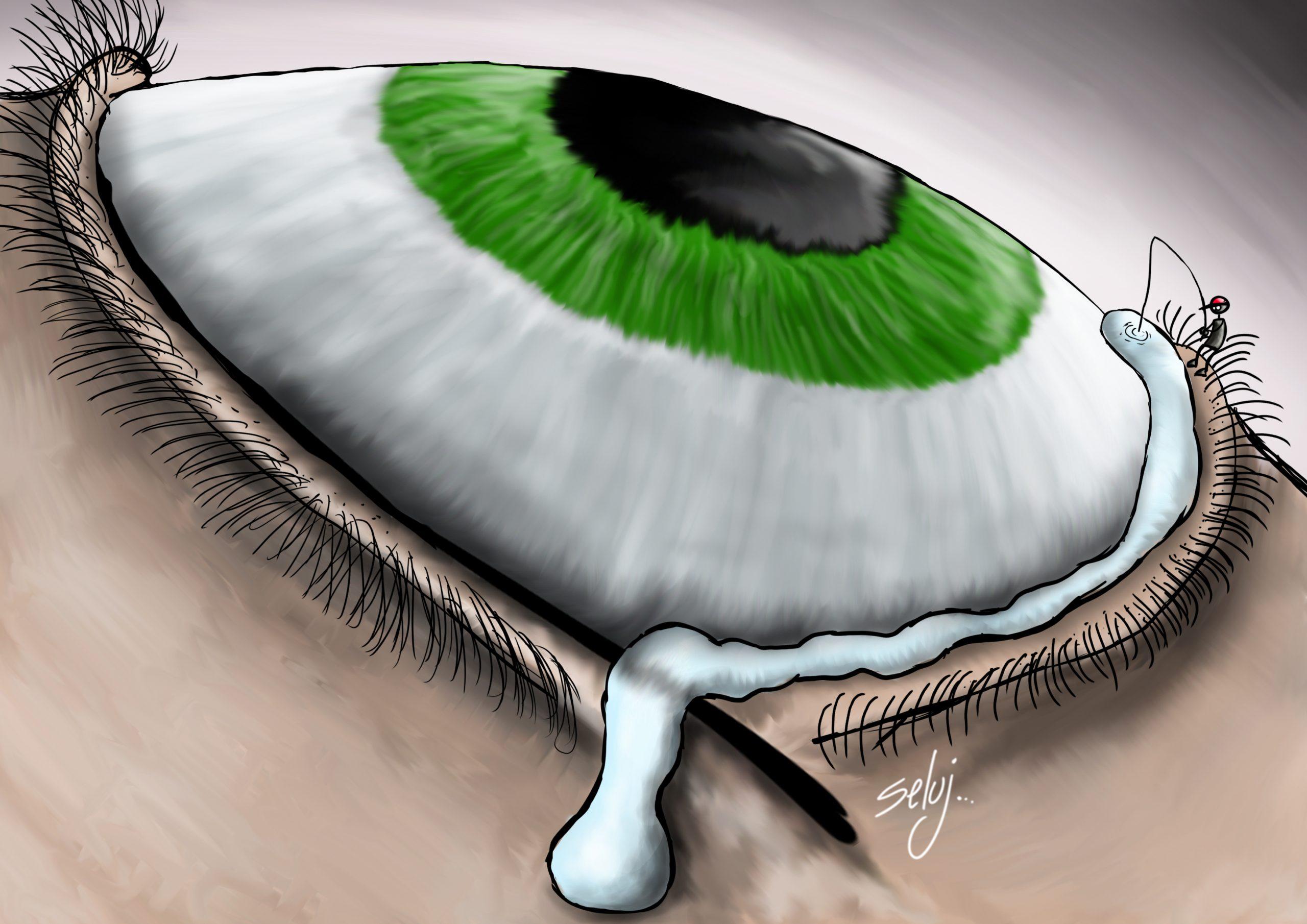 Au bord des larmes