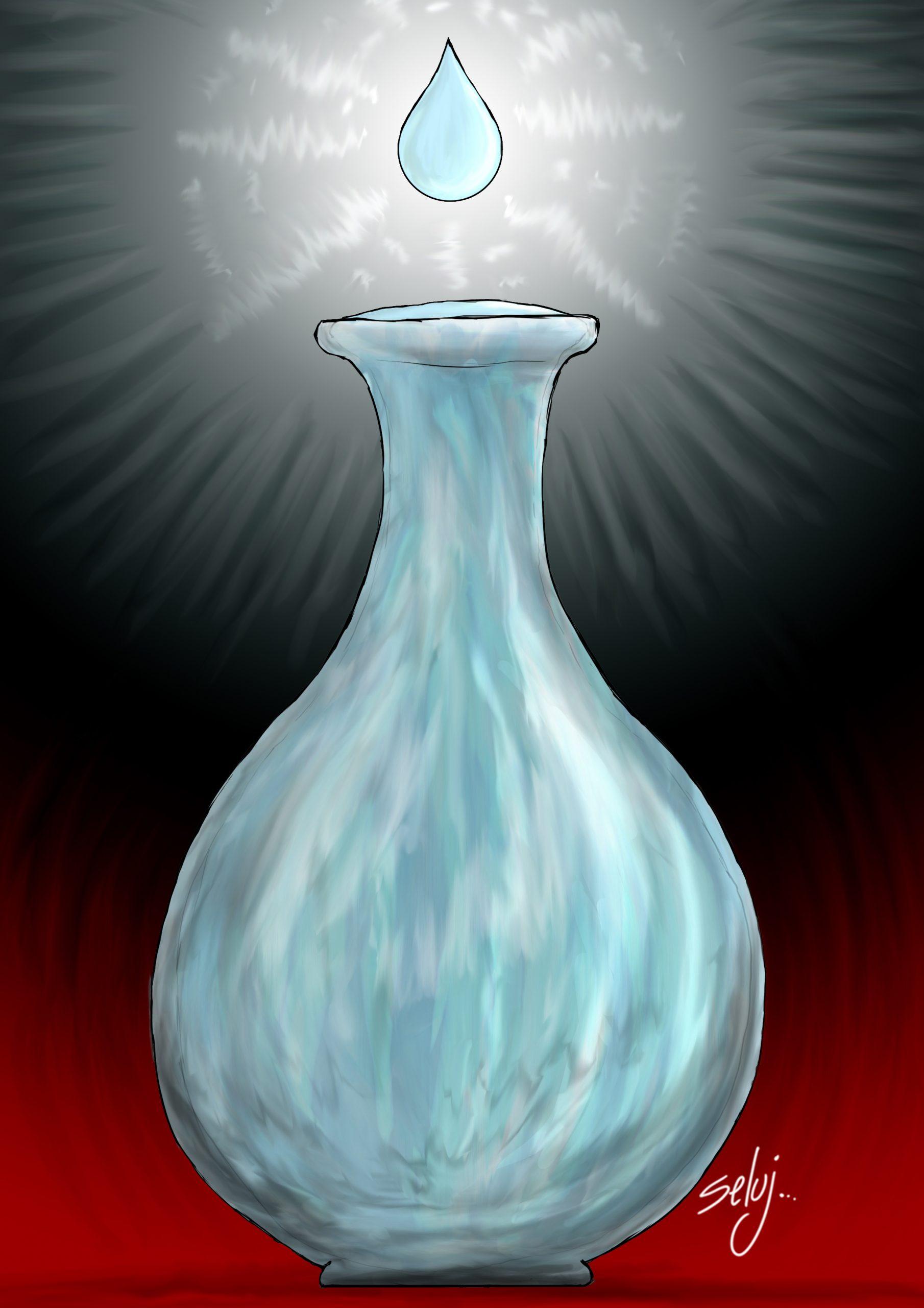La goutte d'eau qui fait déborder le vase