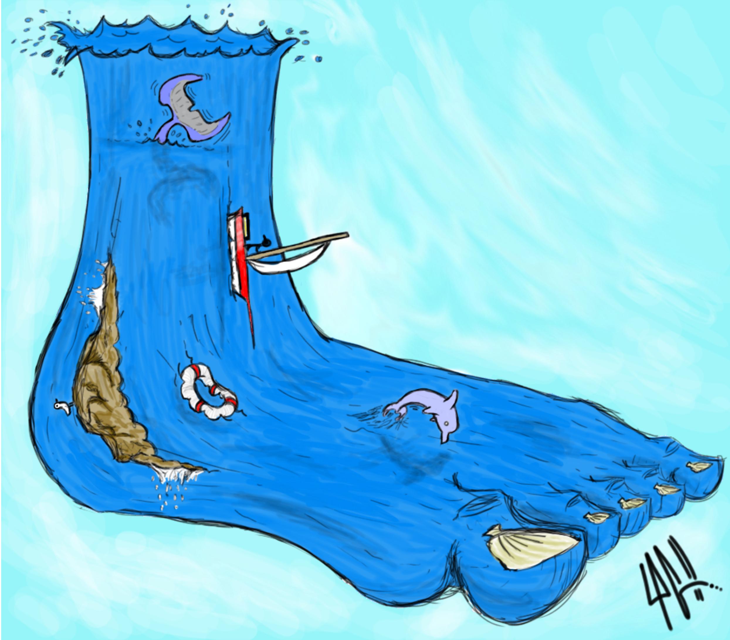 Avoir le pied marin