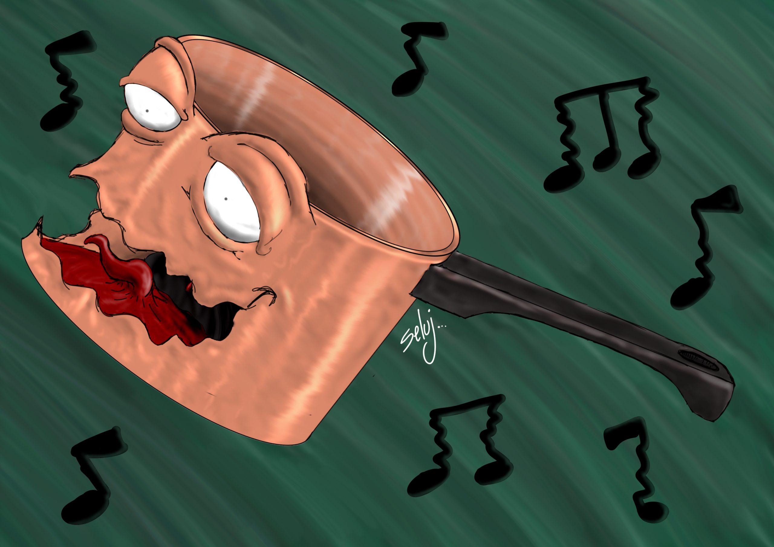 chanter comme une casserole